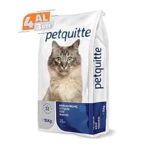 Petquitte Kısırlaştırılmış Kedi Maması 15 Kg (4 AL 3 ÖDE)