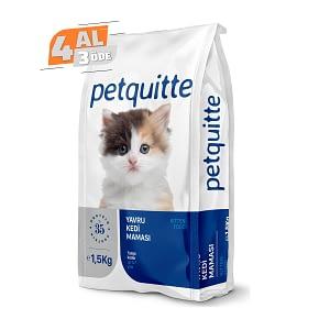 Petquitte Yavru Kedi Maması 1,5 Kg (4 AL 3 ÖDE)