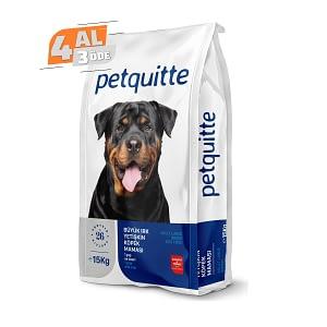 Petquitte Yetişkin Büyük Irk Köpek Maması 15 Kg (4 AL 3 ÖDE)