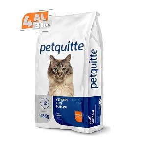 Petquitte Somonlu Yetişkin Kedi Maması 1,5 Kg (4 AL 3 ÖDE)