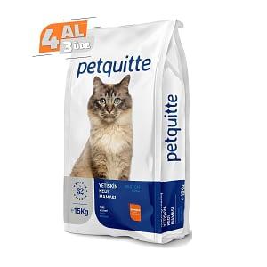 Petquitte Somonlu Yetişkin Kedi Maması 15 Kg (4 AL 3 ÖDE)