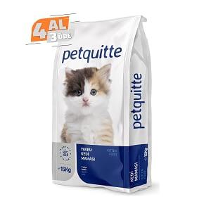 Petquitte Yavru Kedi Maması 15 Kg (4 AL 3 ÖDE)