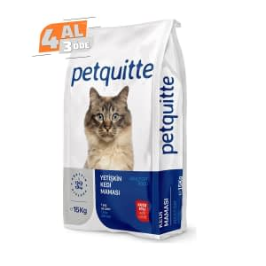 Petquitte Kuzu Etli Kedi Maması 15 Kg (4 AL 3 ÖDE)
