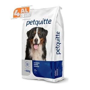Petquitte Yetişkin Köpek Maması 15 Kg (4 AL 3 ÖDE)