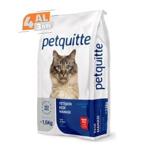Petquitte Kuzu Etli Kedi Maması 1,5 Kg (4 AL 3 ÖDE)