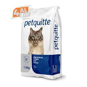 Petquitte Kısırlaştırılmış Kedi Maması 1,5 Kg (4 AL 3 ÖDE)