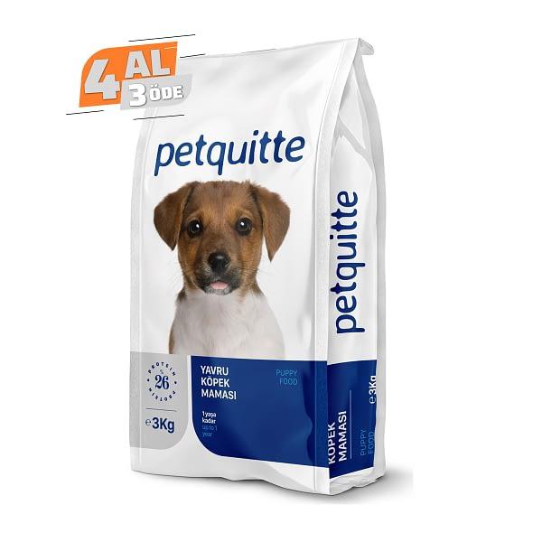 Petquitte Yavru Köpek Maması 3 Kg (4 AL 3 ÖDE)
